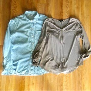 BUNDLE! 2 long sleeves top